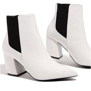 White Ankle Bootie